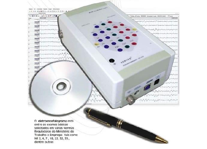 Aparelho de Eletroencefalograma Meditron modelo Vertex