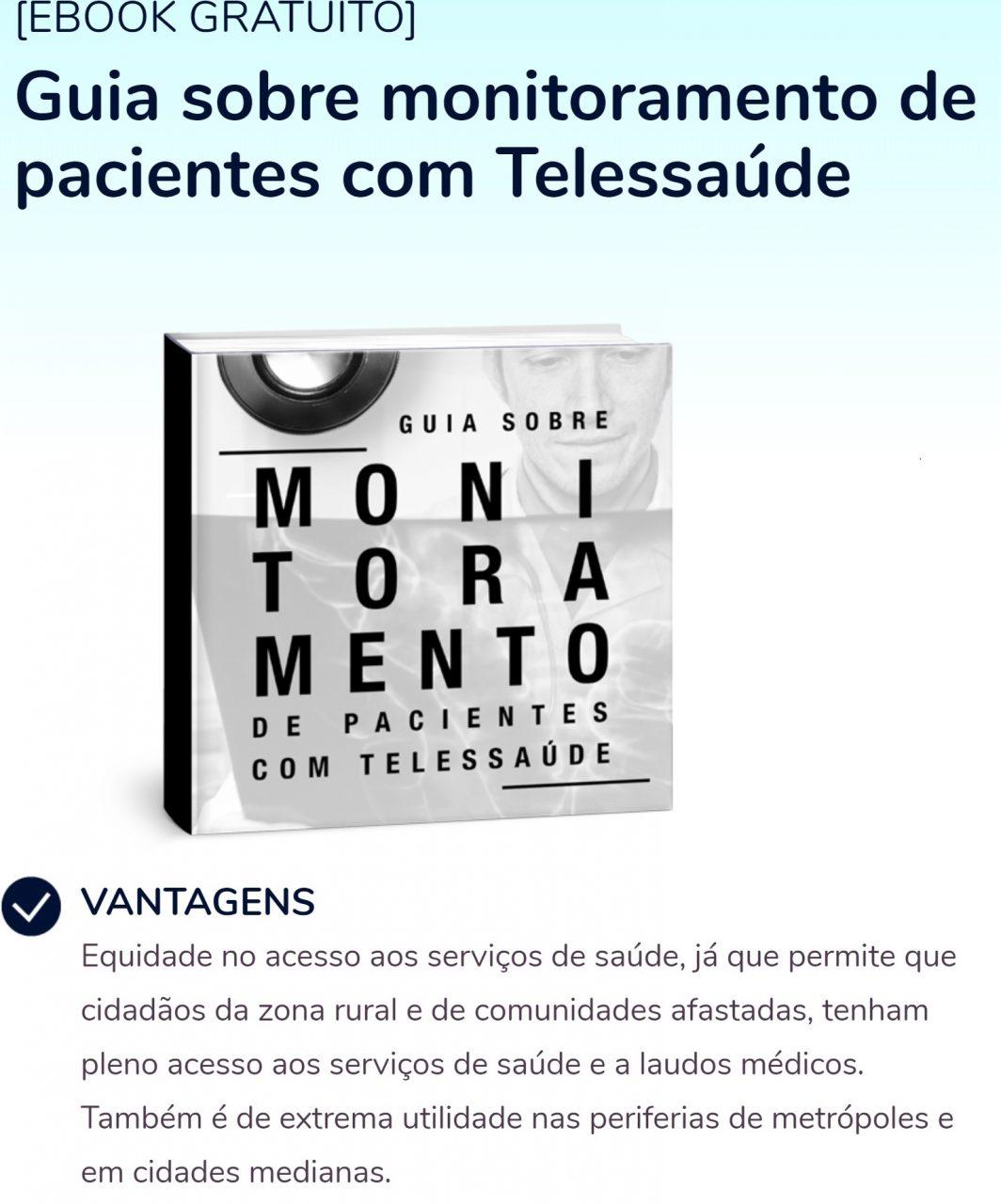 E-book mostra como é possível fazer telemonitoramento usando a telemedicina