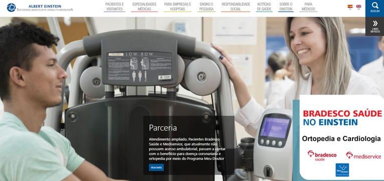 Site médico referência nacional: Albert Einstein