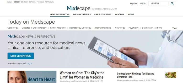 Site de referencia médica Medscape
