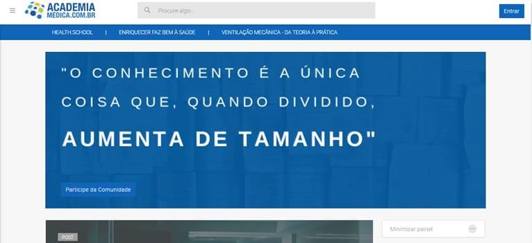 Site médico Academia Médica