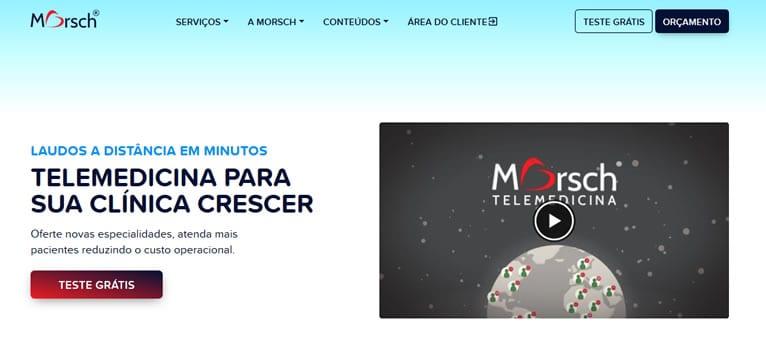 Site médico da Telemedicina Morsch