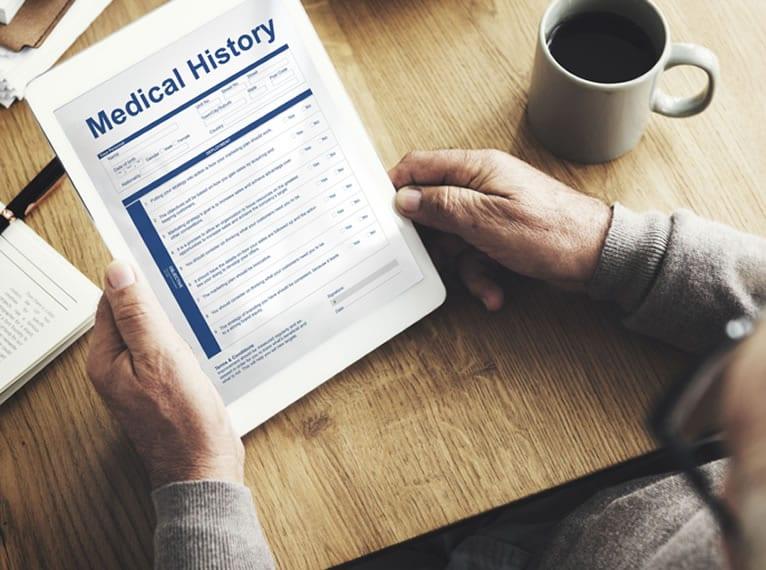 histórico do paciente