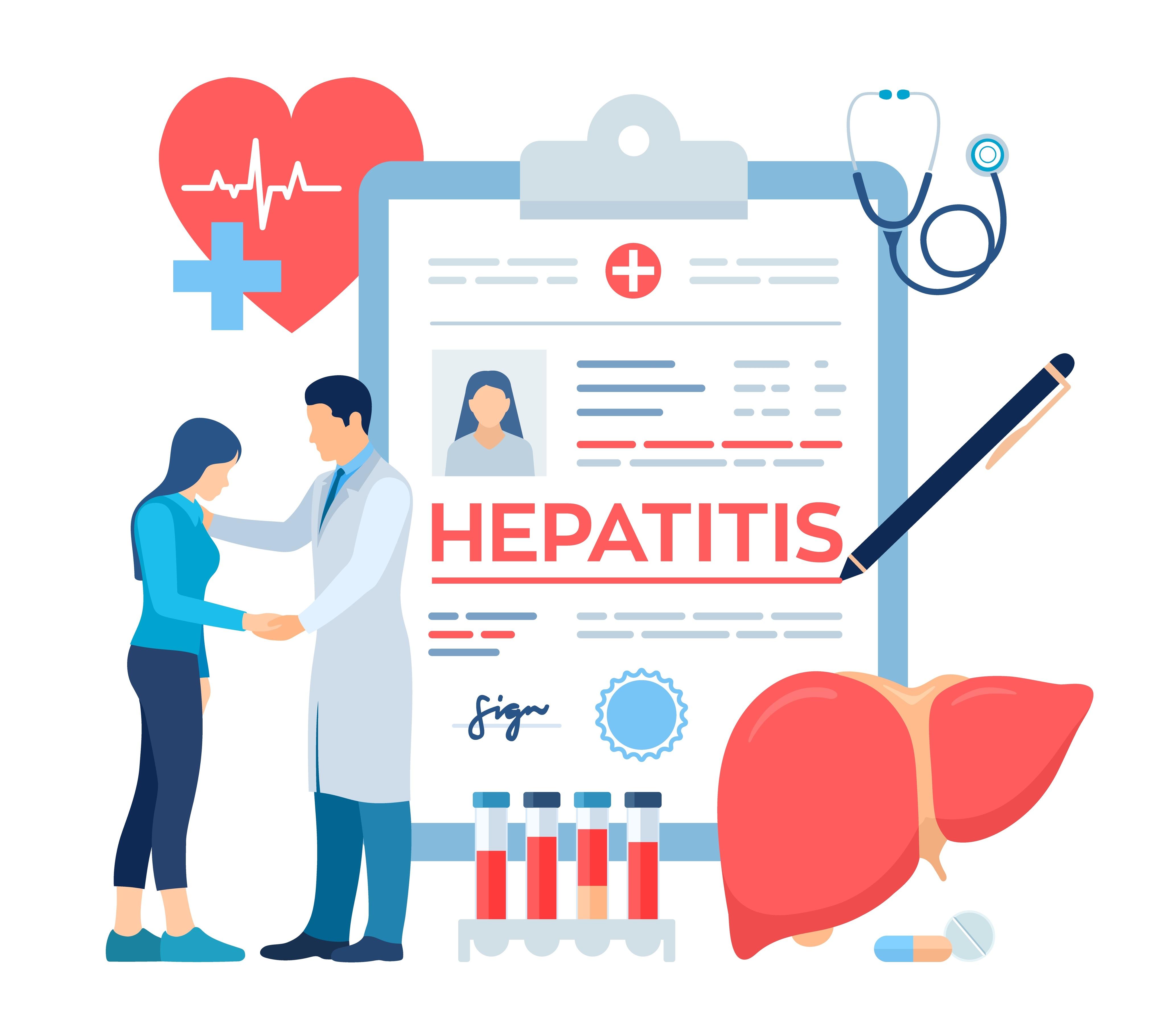 Como é feito o diagnóstico de hepatite viral?